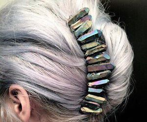 hair, crystal, and grunge image