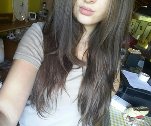 brown hair, brunette, and girl image