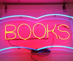book, light, and neon image