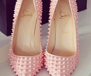louboutin, pink, and shoes lover image