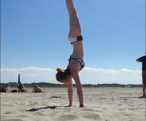 balance, ballet, and beach image