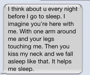 love, text, and sleep image
