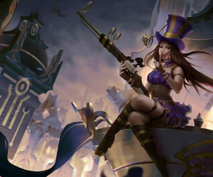 league of legends and caitlyn image