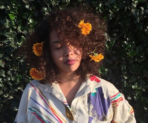 girl, flowers, and aesthetic image