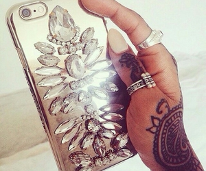 iphone, nails, and tattoo image