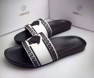 Versace, black and white, and luxury image