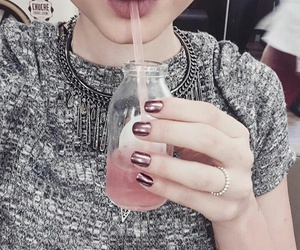 drink, pink, and girl image
