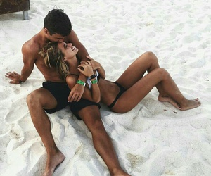 beach, couples, and boyfriend image