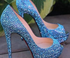 blue, glitter, and OMG image