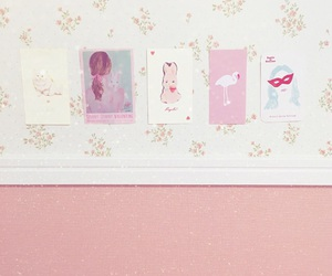 Collage, pink, and room image