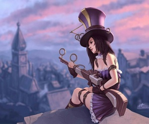caitlyn, lol, and league of legends image