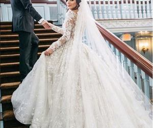 dress, wedding, and love image