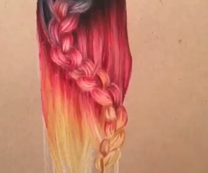 cheveux, color, and draw image