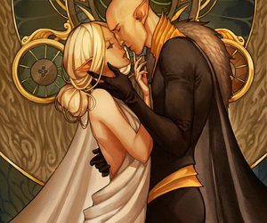 elf, solas, and dread wolf image