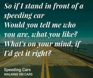 car, cars, and Lyrics image