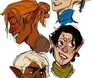 elf, dragon age, and zevran image