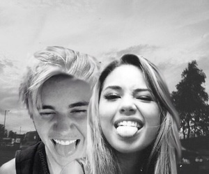 black and white, justin, and sweet image