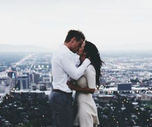 city, couple, and love image