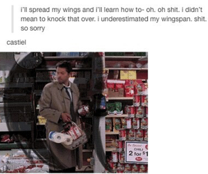 supernatural, castiel, and tumblr image