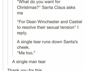 christmas, destiel, and dean winchester image