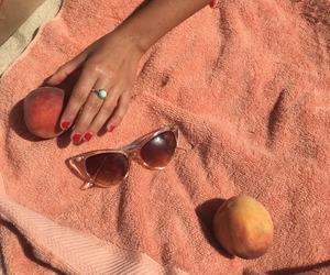 peach, peachy, and theme image