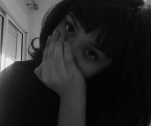 bangs, black, and pale image