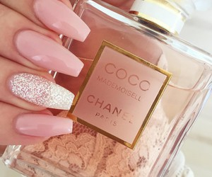 nails, pink, and chanel image