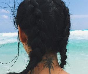 tattoo, summer, and hair image