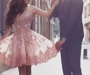 couple, fancy, and pink image
