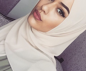 girl, fashion, and hijab image