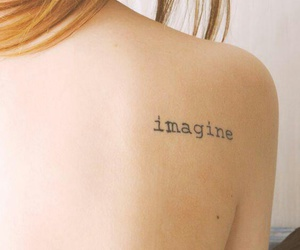 imagine, tattoo, and word image