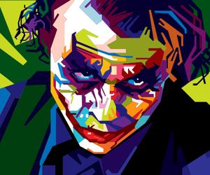 j, joker, and pop art image