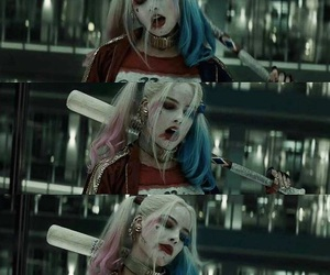 bad guy, harley quinn, and Queen image