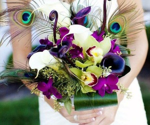bouquet, bride, and flower image