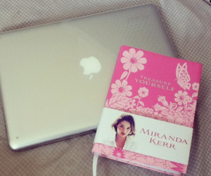 book, laptop, and miranda kerr image