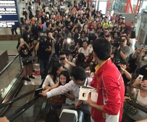 airport, asian, and boys image