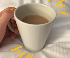aesthetic, yellow, and coffee image