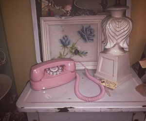 pink, old, and phone image