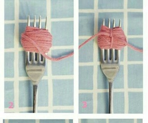 diy, fork, and pink image