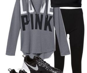 outfit, fitness, and nike image