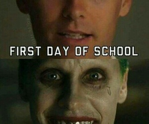 joker, school, and suicide squad image