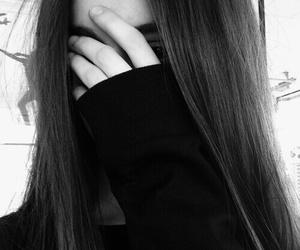 girl, tumblr, and black image