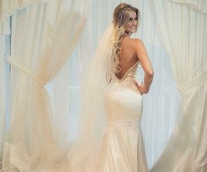 casamento, moda, and wedding dress image