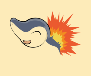 wallpaper, pokemon, and cyndaquil image