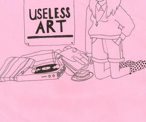 pink, art, and grunge image
