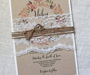 invitation, rustic, and wedding image