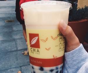 boba, tea, and drink image