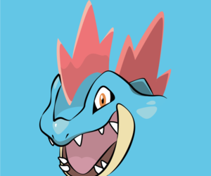 wallpaper, pokemon, and feraligatr image