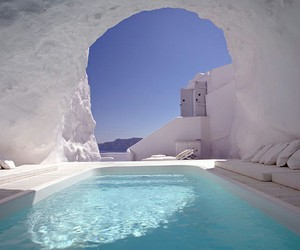 pool, Greece, and summer image