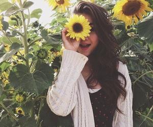 flowers, sunflower, and rowan blanchard image